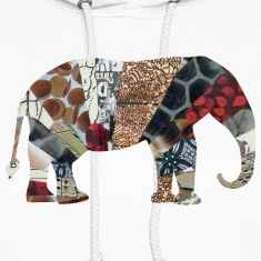 White ELEPHANT Hooded Sweatshirts