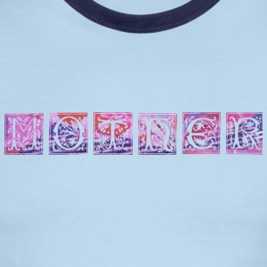 White/red MOTHER (flowery) T-Shirts - Men's Ringer T-Shirt