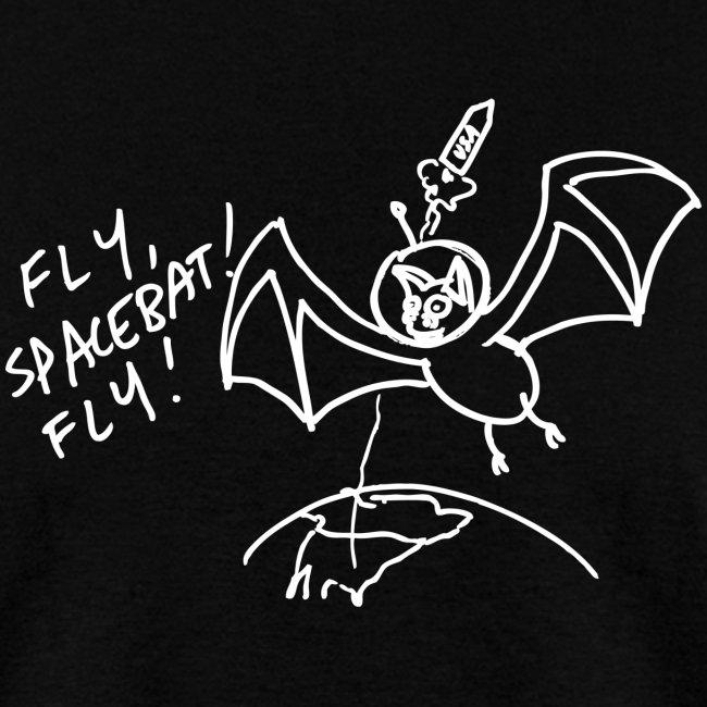 Fly Space Bat Fly Mens Tee (Dark)