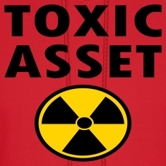 Red Toxic Asset With Hazardous Waste Symbol Hoodies
