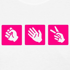 White rock - paper- scissors Women's T-shirts - Women's T-Shirt