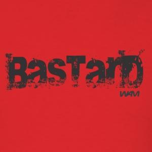 Red bastard black by wam T-Shirts - Men's T-Shirt