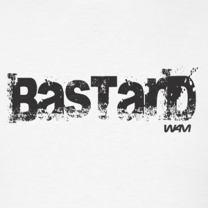 White bastard black by wam T-Shirts - Men's T-Shirt