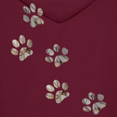 Burgundy PAW PRINTS Hoodies