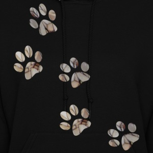 Black PAW PRINTS Hooded Sweatshirts - Women's Hoodie