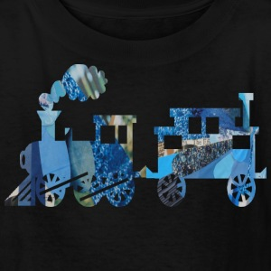 Black TRAIN SET Kids Shirts - Kids' T-Shirt