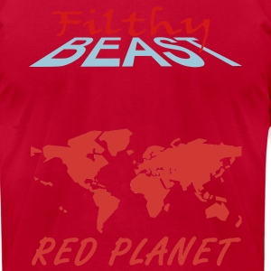 Light blue Red Planet T-Shirts - Men's T-Shirt by American Apparel