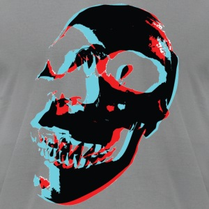 Slate 3 Color Skull T-Shirts - Men's T-Shirt by American Apparel