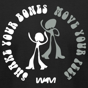 Black shake your bones move your feet by wam T-Shirts - Men's T-Shirt by American Apparel