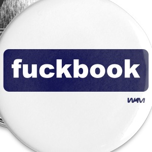 White fuckbook by wam Buttons - Large Buttons