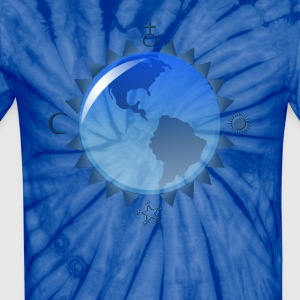 Earth and Symbols - Unisex Tie Dye T-Shirt