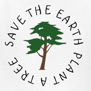 White Save the Earth Kids Shirts - Kids' T-Shirt