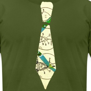 Olive VINTAGE TIE T-Shirts - Men's T-Shirt by American Apparel