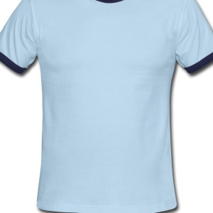 Powder blue Evil Merry Perry Bubble Baby Body - Men's Ringer T-Shirt