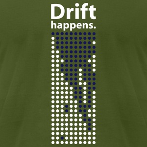 Drift Happens tee - olive - Men's T-Shirt by American Apparel