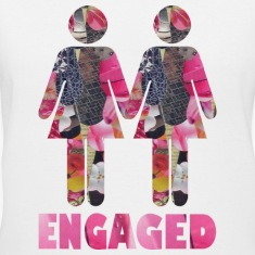 White ENGAGED : WOMEN Women's T-shirts