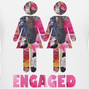 White ENGAGED : WOMEN Women's T-shirts - Women's V-Neck T-Shirt