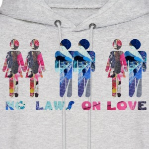 Ash  NO LAWS ON LOVE Hoodies - Men's Hoodie