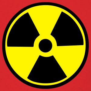 Red Radioactive Warning T-Shirts - Men's T-Shirt