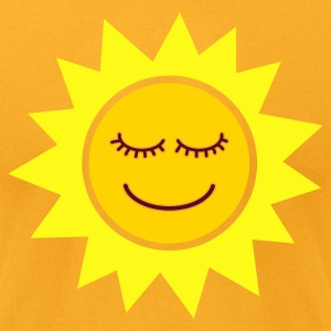 Smiling Sun - Men's T-Shirt by American Apparel