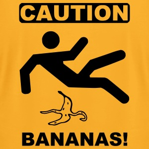 Gold caution bananas T-Shirts - Men's T-Shirt by American Apparel