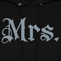 Black Mrs. tattoo style Hooded Sweatshirts
