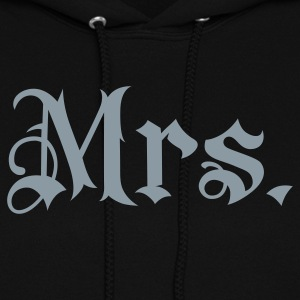 Black Mrs. tattoo style Hooded Sweatshirts - Women's Hoodie