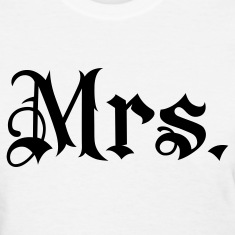White Mrs. tattoo style Women's T-shirts