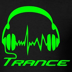 Black Trance Headphones T-Shirts