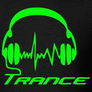 Black Trance Headphones T-Shirts - Men's T-Shirt