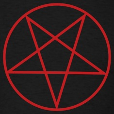 Black Inverted Pentacle / Pentagram T-Shirts