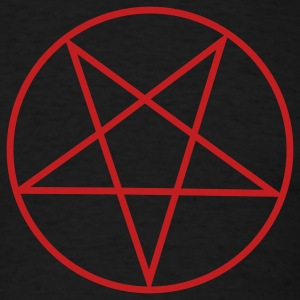 Black Inverted Pentacle / Pentagram T-Shirts - Men's T-Shirt