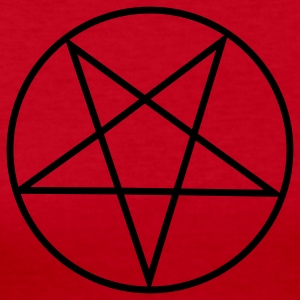 Red Inverted Pentacle / Pentagram Long sleeve shirts - Women's Long Sleeve Jersey T-Shirt