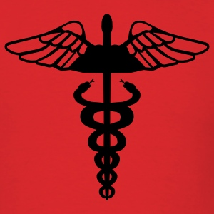 Red Caduceus T-Shirts - Men's T-Shirt
