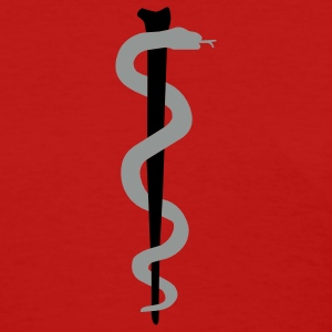 Red Rod of Asclepius - Medical Symbol Women's T-shirts - Women's T-Shirt