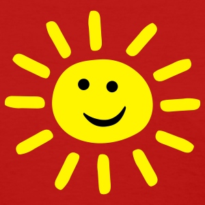 Red Smiley Summer Sun Women's T-shirts - Women's T-Shirt