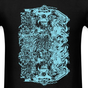 Black Cool Baby Blue Graffiti Design T-Shirts - Men's T-Shirt