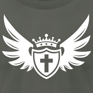 Shield of Faith Mens Designer T-Shirt  - Men's T-Shirt by American Apparel