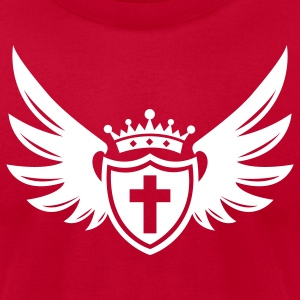 """Shield of Faith"" Mens Designer T-Shirt  - Men's T-Shirt by American Apparel"