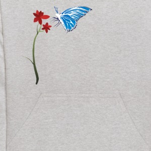 Butterfly and Red Flower - Kids' Hoodie