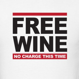 White Free wine T-Shirts - Men's T-Shirt