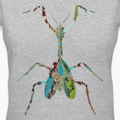 Gray INSECT : MANTIS Women's T-shirts