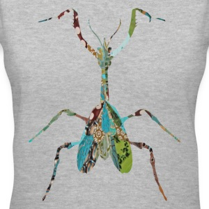 Gray INSECT : MANTIS Women's T-shirts - Women's V-Neck T-Shirt