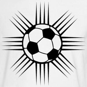 White cool soccer ball design or team logo Long sleeve shirts - Men's Long Sleeve T-Shirt