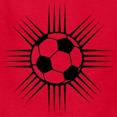 Red cool soccer ball design or team logo Kids Shirts