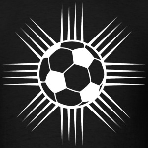 Black Cool Soccer Ball Designer Logo T-Shirts - Men's T-Shirt