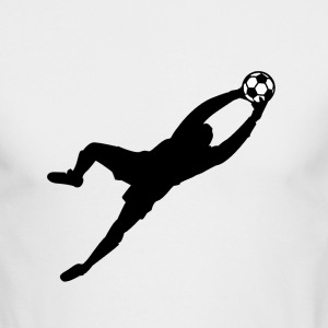 White Cool Soccer Goalie Dive Save Graphic Long sleeve shirts - Men's Long Sleeve T-Shirt by Next Level