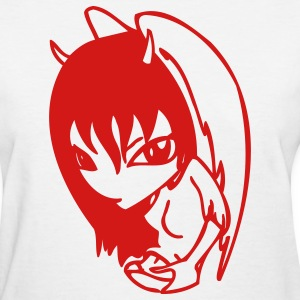 Manga Girl Devil - Women's T-Shirt