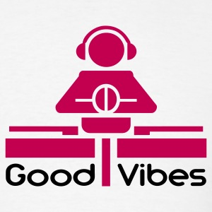 White Good Vibes T-Shirts - Men's T-Shirt