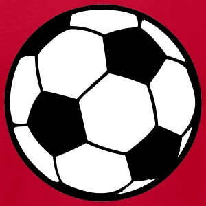 Red Custom soccerball 2 color T-Shirts - Men's T-Shirt by American Apparel